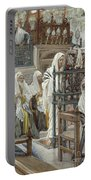 Jesus Unrolls The Book In The Synagogue Portable Battery Charger