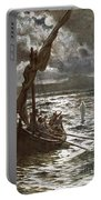 Jesus Walking Upon The Sea Portable Battery Charger by William Brassey Hole