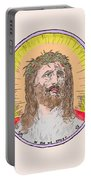 Jesus With The Crown Of Thorns Portable Battery Charger
