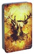 Jewel Deer Head Art Portable Battery Charger