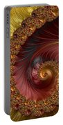 Jewel Gold  Fractal Spiral  Portable Battery Charger
