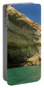 Jewel Toned Ocean Art - Colorful Sea Cave In Algarve Portugal Portable Battery Charger
