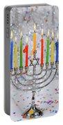 Jewish Holiday Hannukah Symbols - Menorah Portable Battery Charger