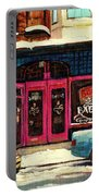 Jewish Montreal By Streetscene Artist Carole Spandau Portable Battery Charger