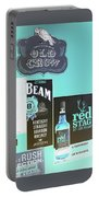 Jim Beam's Old Crow And Red Stag Signs - Color Invert Portable Battery Charger