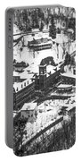 Jim Thorpe Pennsylvania In Winter In Black And White Portable Battery Charger