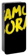 Jiu Jitsu Design Vamo Bora Yellow Light Martial Arts Portable Battery Charger