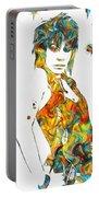Joan Jett Colorful Paint Splatter Portable Battery Charger