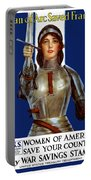 Joan Of Arc Saved France - Save Your Country Portable Battery Charger