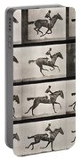 Jockey On A Galloping Horse Portable Battery Charger