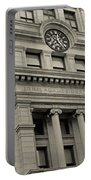 John Adams Courthouse Boston Ma Black And White Portable Battery Charger