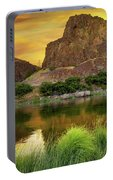 John Day River At Sunrise Portable Battery Charger