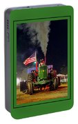John Deere Tractor Pull Poster Portable Battery Charger