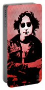 John Lennon - Imagine - Pop Art Portable Battery Charger