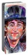 John Lennon Portrait Portable Battery Charger