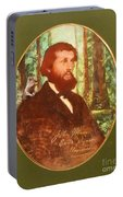 John Muir With A Chipmunk On His Shoulder Portable Battery Charger