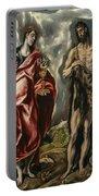 John The Baptist And Saint John The Evangelist Portable Battery Charger