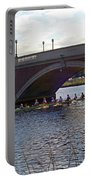 John Weeks Bridge Harvard Square Chales River Sunset Rowers Portable Battery Charger