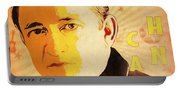 Johnny Cash Poster  Portable Battery Charger