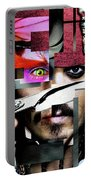 Johnny Depp - Collage  Portable Battery Charger