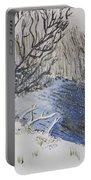 Johnson Vermont In Spring Snow Storm Portable Battery Charger