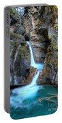 Johnston Canyon Falls Hike Upper Falls II Portable Battery Charger