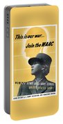 Join The Waac - Women's Army Auxiliary Corps Portable Battery Charger