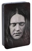 Jonas P Renkse Musician From Katatonia Band By Julia Art Portable Battery Charger