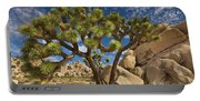 Joshua Tree And Blue Sky Portable Battery Charger