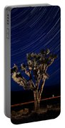 Joshua Tree And Star Trails Portable Battery Charger