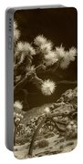 Joshua Trees And Boulders In Infrared Sepia Tone Portable Battery Charger