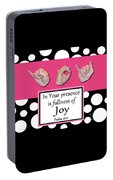 Joy - Bw Graphic Portable Battery Charger