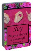 Joy Of The Lord Portable Battery Charger