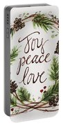 Joy, Peace, Love Portable Battery Charger