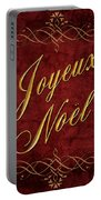 Joyeux Noel In Red And Gold Portable Battery Charger