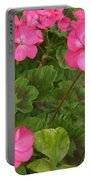 Joyful Geranium  Portable Battery Charger