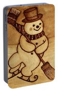 Joyful Snowman  Coffee Paintings Portable Battery Charger