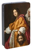 Judith Holding The Head Of Holofernes Portable Battery Charger