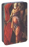 Judith Leaving The Tent Of Holofernes 1500 Portable Battery Charger