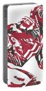 Julio Jones Atlanta Falcons Pixel Art 11 Portable Battery Charger