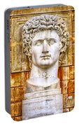 Julius Caesar At Vatican Museums 2 Portable Battery Charger by Stefano Senise