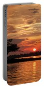 July Summer Sunset At Detroit Point Portable Battery Charger