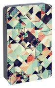 Jumble Of Colors And Texture Portable Battery Charger