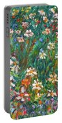 Jumbled Up Wildflowers Portable Battery Charger