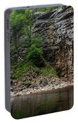 June Morning At Awosting Falls II Portable Battery Charger