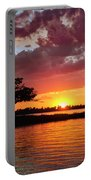 June Sunset At Detroit Point Portable Battery Charger