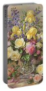 June's Floral Glory Portable Battery Charger