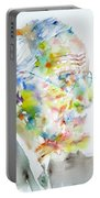 Jung - Watercolor Portrait.4 Portable Battery Charger