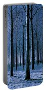 Jungle Trees In Blue  Portable Battery Charger