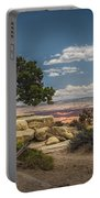 Juniper Tree On A Mesa Portable Battery Charger